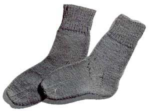 another two needle knit sock pattern – this time a pair of classic socks in children's sizes