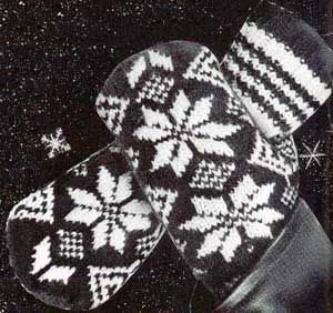 Mitten and Glove Week   Tuesday   Men s two needle knit Norwegian mittens   G...