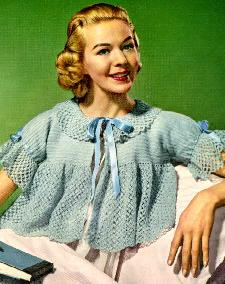 Crochet Bed Jacket pattern from 1956 – would make a really cute sweater too!