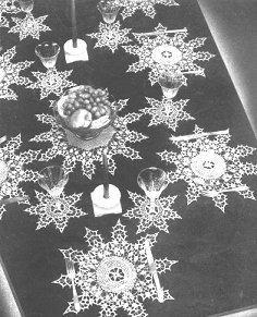 so pretty – crochet a snowflake table set destined to become an heirloom