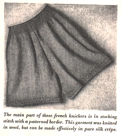 Knit a pair of Ladies Knickers