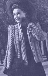 Woman's Knit Cabled Jacket – vintage 1940's pattern