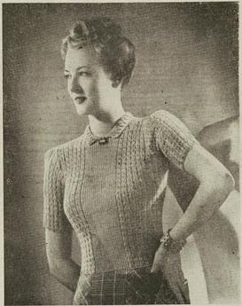 neat and feminine !  sweater pattern from 1942