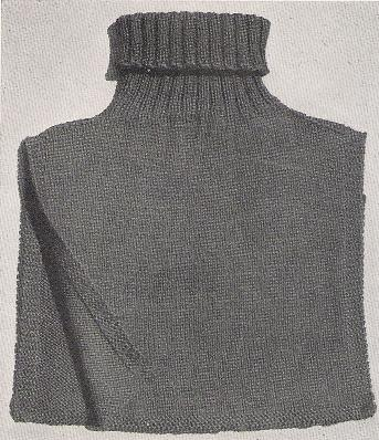 Knit turtleneck chest protector