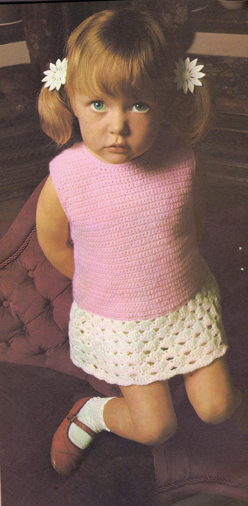 A week of Spring Crochet for your little ones – beginning with this Dropwaist Dress