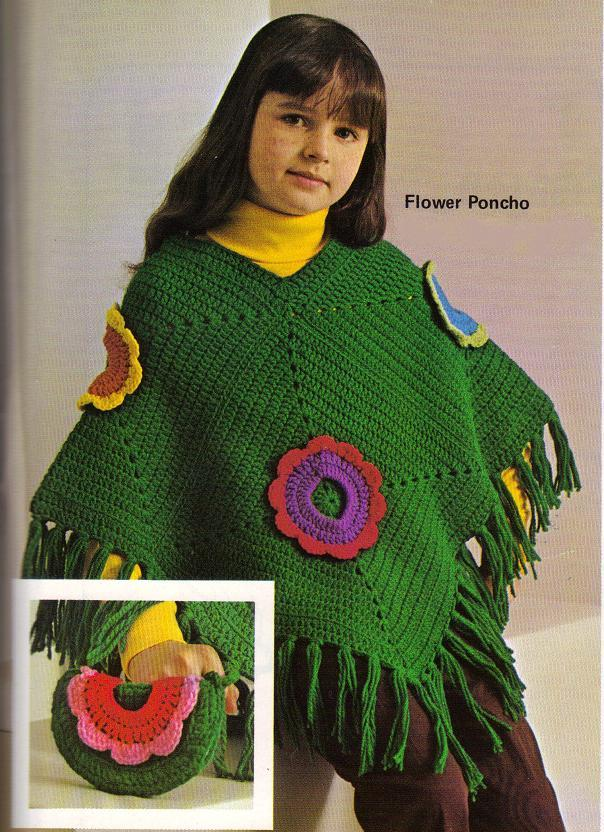 crochetcrochet: Girls Hooded Poncho Pattern