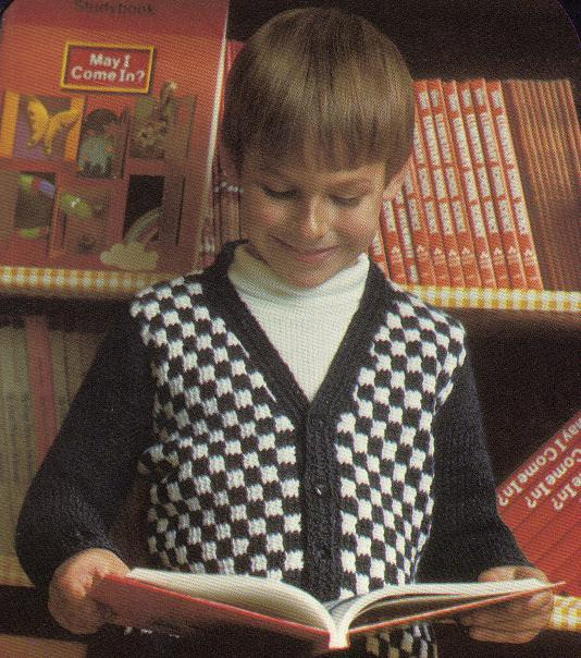 A week of patterns for the men in your life – beginning with this Boy's Crochet Checkered Cardigan