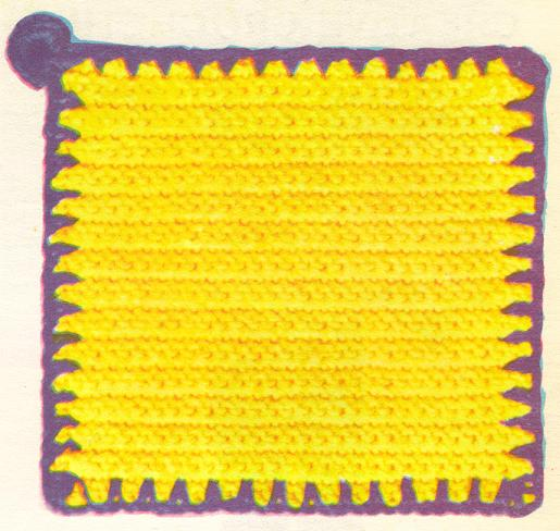 Crochet pattern for potholders. - Crafts - Free Craft Patterns