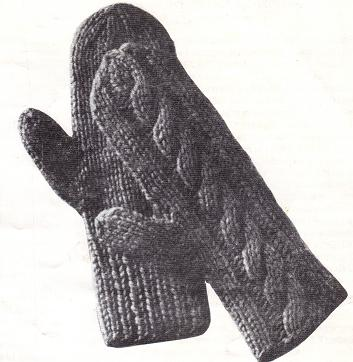 Mittens Knit On Two Needles   A Pair of Cables   Grandmothers Pattern Book