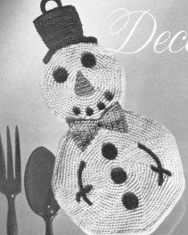Christmas In The Kitchen – Crochet A Snowman Potholder