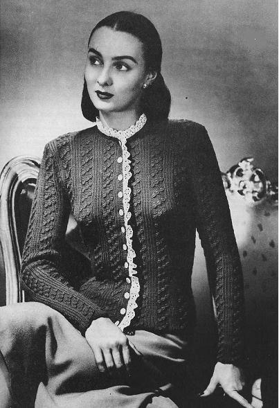 Las' Cardigan Knitting Pattern in Stockinette St and Garter St
