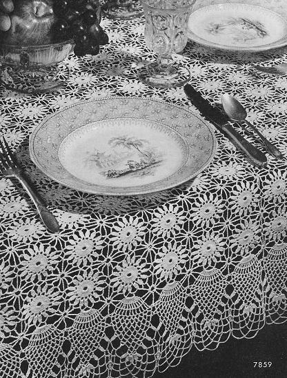 "crocheted lace: ""Ballerina"" Crocheted Tablecloth Pattern"