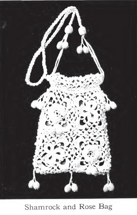 Free Vintage Crochet Bag Pattern : Vintage Crochet Bag Patterns ? A Shamrock and Rose Bag ...