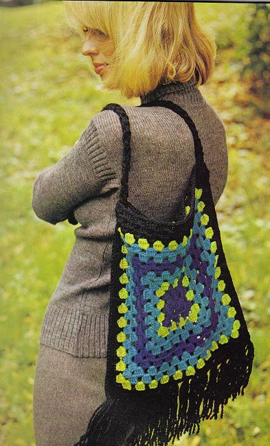 Crochet Granny Squares – Giant Granny Bag – Grandmother\'s Pattern Book