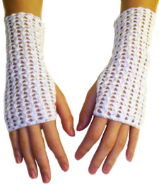 Short Fingerless Gloves | Knittery in the Crochet