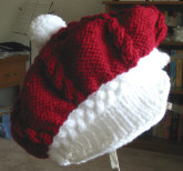 5 Ply Knitting Patterns : Knit and Crochet Santa Hats, Mittens, Scarves   free patterns   Grandmother