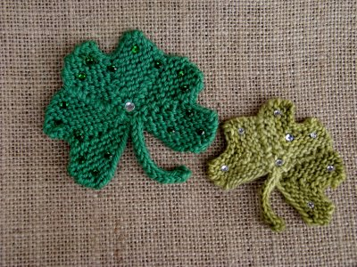 SHAMROCK KNITTING PATTERNS | FREE PATTERNS