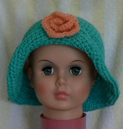 Free Crochet Pattern For Baby Floppy Hats : Reader Request ? Girl s Rolled Brim Hat ? free patterns ...