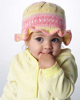 Free Knitting Pattern Baby Brimmed Hat : Reader Request   Girl s Rolled Brim Hat   free patterns Grandmothers P...