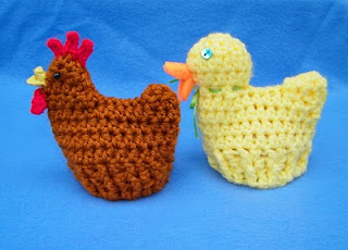 Knitted Chick Egg Cosy Pattern : Easter Egg Cozies to knit and crochet   free patterns   Grandmothers Pat...