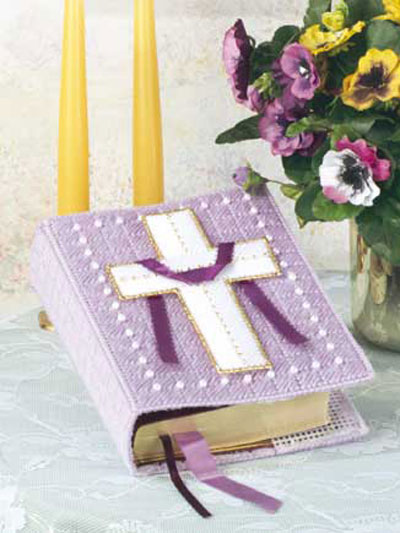 Plastic Canvas Book Cover Patterns ~ Bible covers to make and give for easter knit crochet