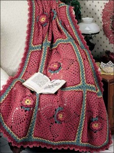 Grandmothers Flower Garden Afghan Crochet Pattern #afghan #c