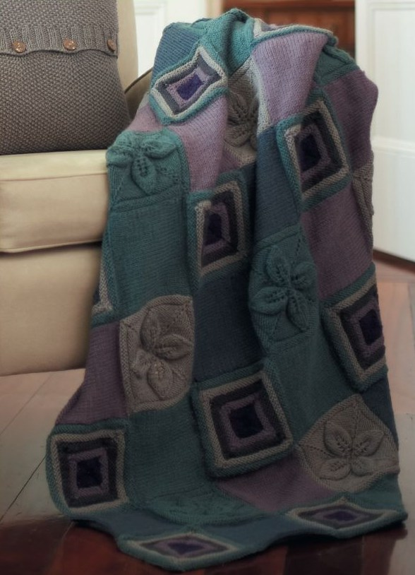 Welcome Spring With A Beautiful Knit Flower Afghan 7 Free Patterns