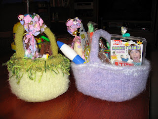 Easter baskets to knit and crochet free patterns grandmothers knit negle Gallery