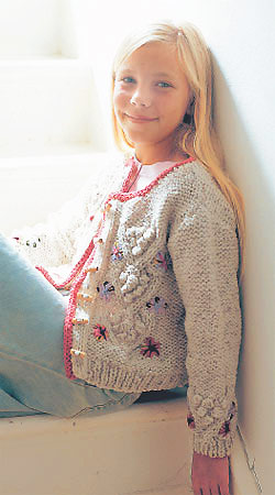 Free Knitting Patterns Girls : The Prettiest Spring Sweaters to knit for girls   free patterns   Grandmother...