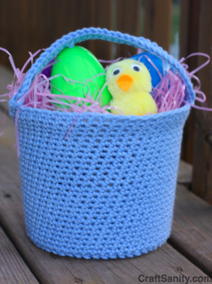 Free Pattern Crochet Easter Basket : Easter Baskets to knit and crochet ? free patterns ...
