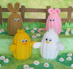 Easter Chick Knitting Pattern Instructions : Easter Egg Cozies to knit and crochet   free patterns ...