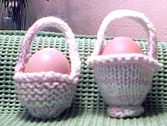 Letter Knitting Patterns : Easter Baskets to knit and crochet   free patterns   Grandmothers Patter...