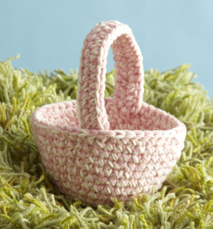 Easter baskets to knit and crochet free patterns grandmothers amigurumi bunny basket crochet negle Gallery