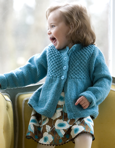 Knitting Pattern Cardigan Girl : The Prettiest Spring Sweaters to knit for girls   free patterns   Grandmother...