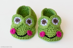 Frog Baby Booties Crochet Pattern 4