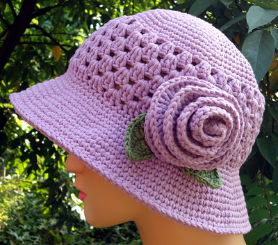 Free Patterns Crochet For Hats :  FREE CROCHET SUN HATS