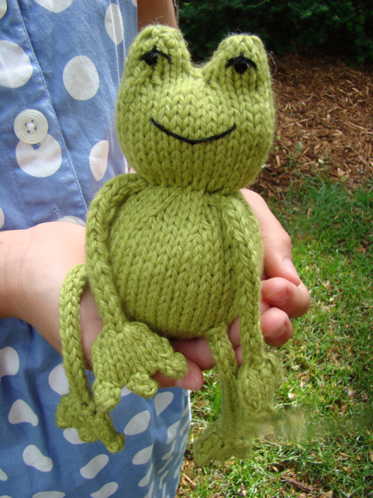 knit a frog for april it s national frog month free patterns grandmother 39 s pattern book. Black Bedroom Furniture Sets. Home Design Ideas