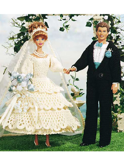 Wedding Knit and Crochet – Bride and Groom Dolls – free crochet ...