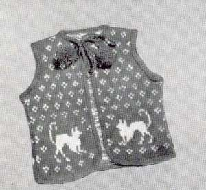Cats on Sweaters ? free patterns ? Grandmothers Pattern Book