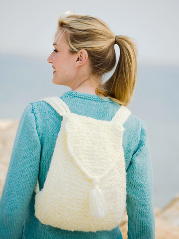Knitting Pattern For Book Bag : Get Ready for School   Knit and Crochet Backpacks   free patterns   Grandmoth...