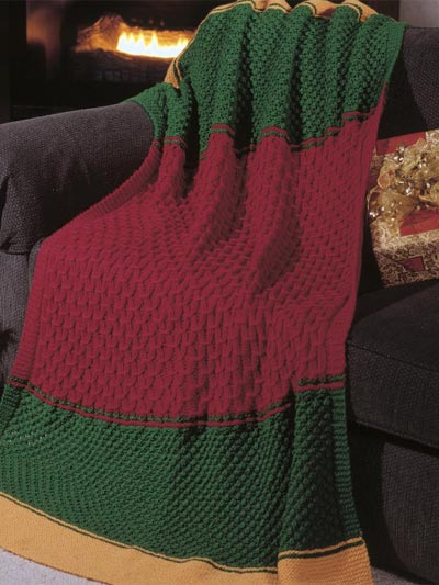 Afghan Knitting Patterns Easy : Christmas in July   Knit a Christmas Afghan   free ...