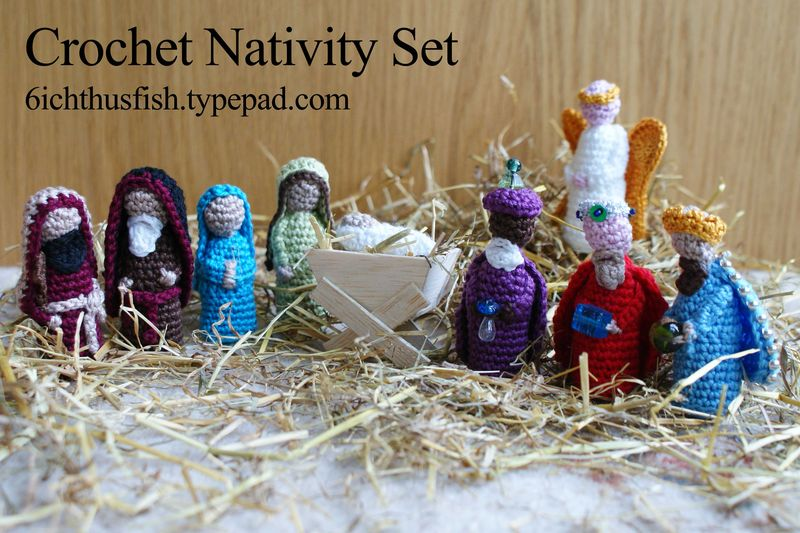 Knitting Pattern Christmas Crib Nativity Scene Booklet : Christmas in July   Knit and Crochet Nativity Sets   free patterns   Grandmot...