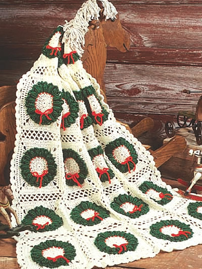 Free Crochet Pattern Christmas : Christmas in July ? more Christmas Afghans to Crochet ...