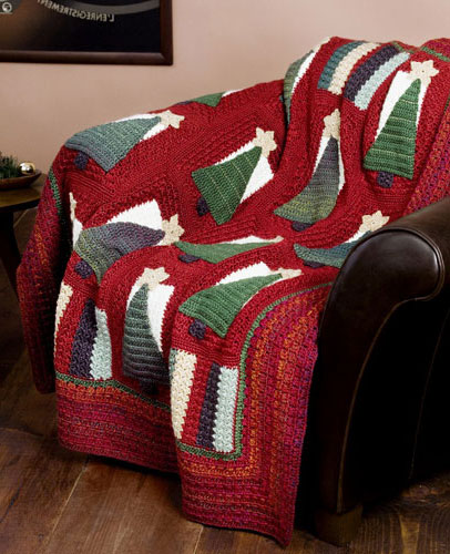 Free Online Christmas Crochet Afghan Patterns : Christmas in July ? more Christmas Afghans to Crochet ...