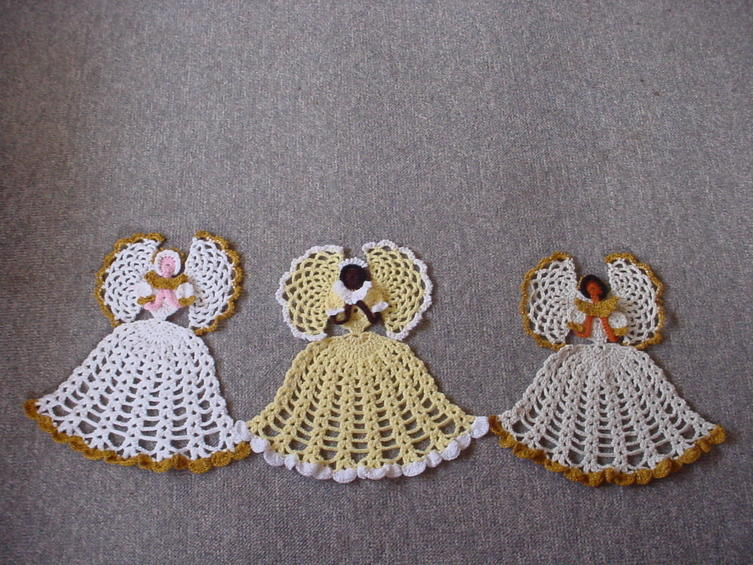 Crochet Angel : Christmas Angels Crochet Patterns Tree Topper Ornaments Decorations ...