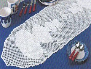 Free Crochet Patterns For Christmas Table Runners : Christmas in July ? Crochet Your Christmas Tablecloth ...
