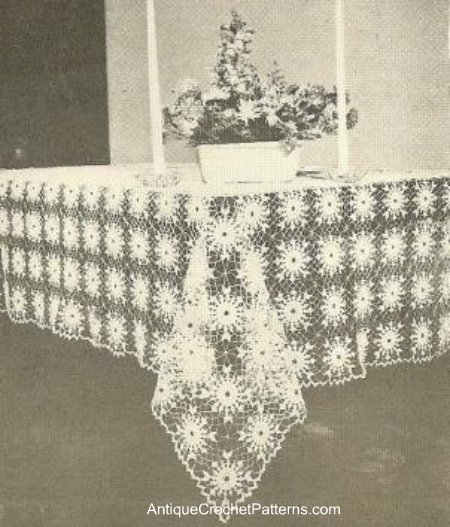 Free Easy Crochet Tablecloth Patterns For Beginners : Christmas in July ? Crochet Your Christmas Tablecloth ...