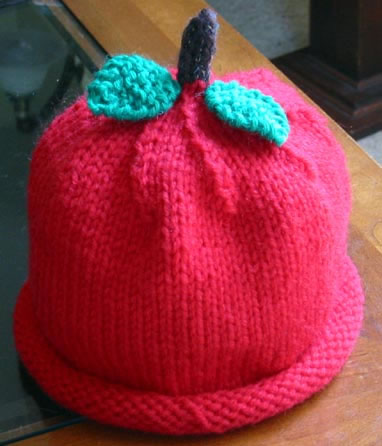 Knitting Pattern Central Food : KNIT APPLE PATTERN Easy Knit Patterns