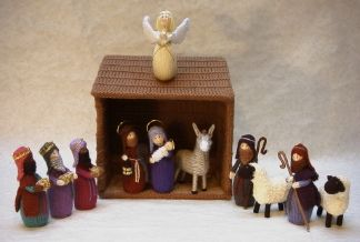 Knitting Pattern Christmas Crib Nativity Scene Booklet : nativity set pattern free