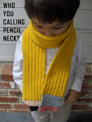 Back to School Knit and Crochet ? Pencils ? free patterns ...